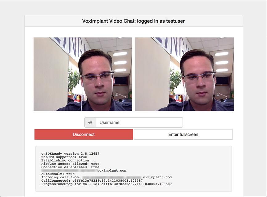 Peer-to-peer video chat