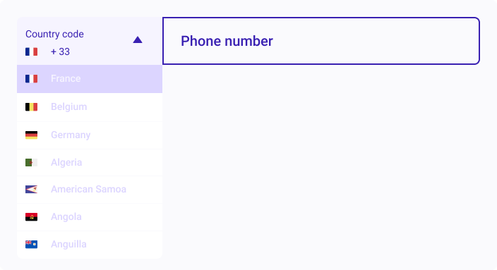 Plugin for real-time validation of phone numbers